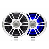 "8.8"" 330 WATT Coaxial Sports White Marine Speaker with LEDs"