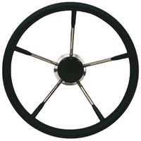 350mm Stainless Steel Soft Grip Steering Wheel