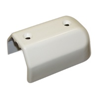 Gunwale End Cap White Plastic