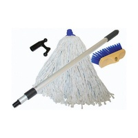 Deck Brush Kit with Mop & Boat Hook