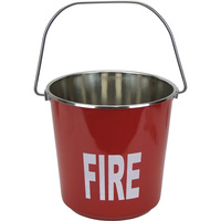 Red Galvanised Fire Bucket (9L)