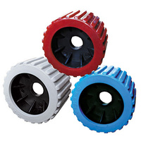 "3"" x 4"" Poly Ribbed Wobble Rollers"