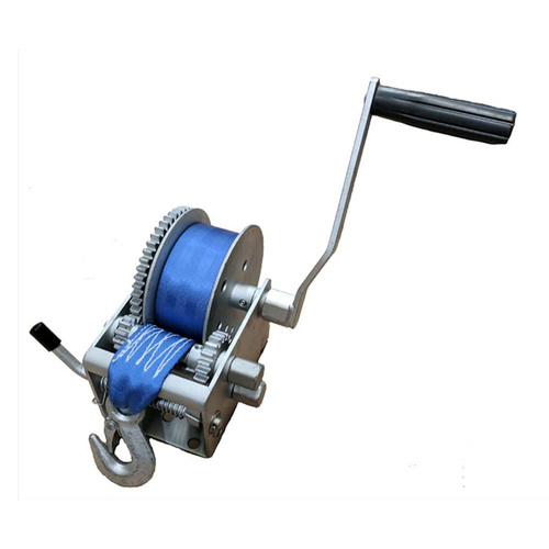 3 Speed Manual Trailer Winch With Synthetic Strap